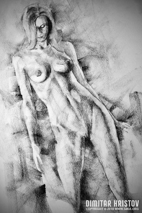 sketchbook page 59 lonely girl pose drawing 01 by 54ka :: SketchBook Page 59   Lonely Girl Pose Drawing :: view all figure drawing charcoal art  :: Figure Drawing Female Image charcoal Body Sketch study Pose pencil Human Body