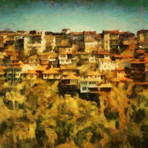 Veliko Tarnovo Cityscape Painting