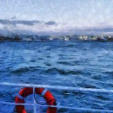 Sea From The Boat – Painting