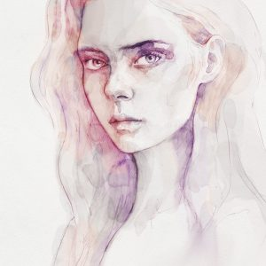 Aquarelle portrait of a girl