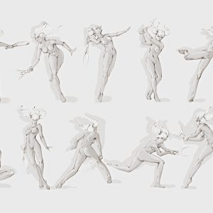 Pose Reference – Tennis Girl Draw