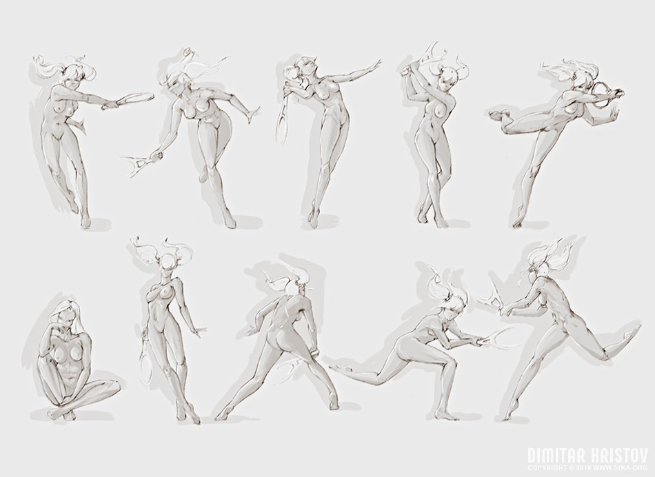 pose reference tennis girl draw 001 by 54ka :: Pose Reference   Tennis Girl Draw :: view all sketchbook pose reference figure drawing  :: Figure Drawing Female Image charcoal Body Sketch study Pose pencil Human Body