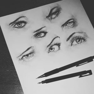 Woman Eyes Pencil Drawing