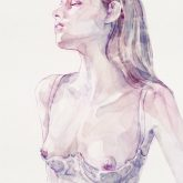 Watercolor Portrait of Young Woman
