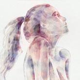 Watercolor Splash Girl Portrait