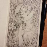 Fantasy art – Girl portrait quick sketch