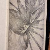 Superhero girl – Close up sketchbook drawing