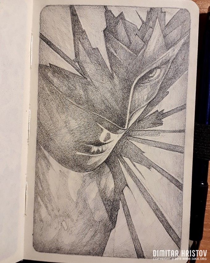 superhero girl close up sketchbook drawing by 54ka :: Superhero girl   Close up sketchbook drawing :: view all sketchbook portrait pencil art illustration featured fantasy art  :: Figure Drawing Female Image charcoal Body Sketch study Pose pencil Human Body