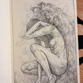 A Girl With Angel Wings – Sketchbook drawing