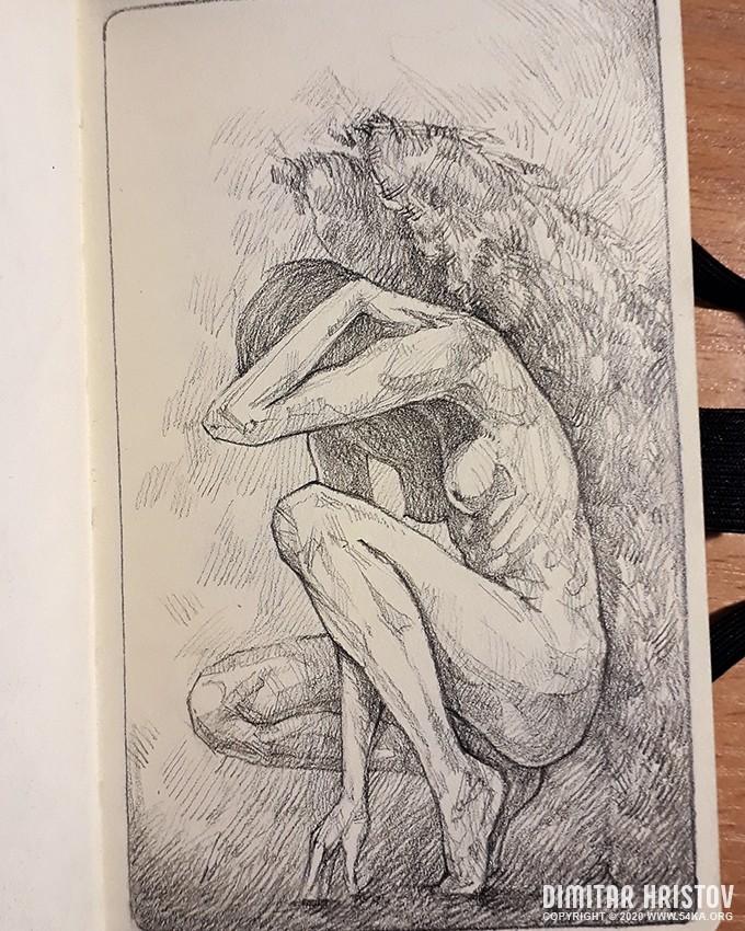 a girl with angel wings sketchbook drawing by 54ka :: A Girl With Angel Wings – Sketchbook drawing :: view all sketchbook pencil art figure drawing featured  :: Figure Drawing Female Image charcoal Body Sketch study Pose pencil Human Body
