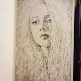 Fantasy sketch portrait of a girl