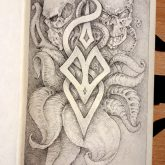 Skull tattoo designs – sketch drawing