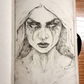 Gothic lady – Sketchbook drawing