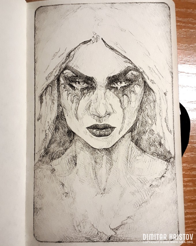 gothic lady sketchbook drawing by 54ka :: Gothic lady   Sketchbook drawing :: view all sketchbook portrait pencil art featured  :: Figure Drawing Female Image charcoal Body Sketch study Pose pencil Human Body