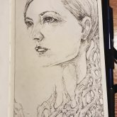 Beauty Fashion Sketchbook Portrait