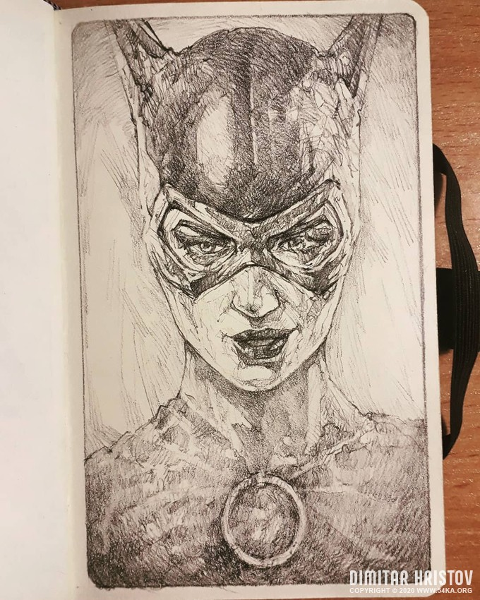 catwoman sketchbook drawing by 54ka :: Catwoman   Sketchbook drawing :: view all sketchbook pencil art featured  :: Figure Drawing Female Image charcoal Body Sketch study Pose pencil Human Body