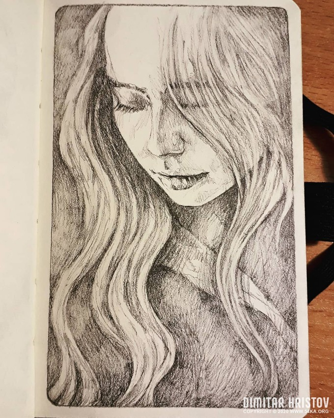 girl sketchbook portrait by 54ka :: Girl Sketchbook Portrait :: view all sketchbook portrait pencil art  :: Figure Drawing Female Image charcoal Body Sketch study Pose pencil Human Body