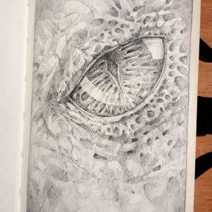 Dragon eye – Sketchbook Drawing