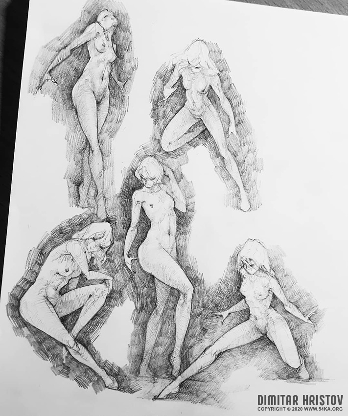 girl pose reference dynamic poses drawing by 54ka :: Girl Pose Reference   Dynamic poses drawing :: view all sketchbook pose reference figure drawing  :: Figure Drawing Female Image charcoal Body Sketch study Pose pencil Human Body