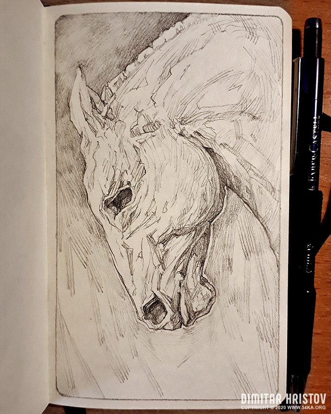 horse stallion portrait sketchbook portrait by 54ka :: Horse stallion portrait – Sketchbook Portrait :: view all sketchbook pencil art featured  :: Figure Drawing Female Image charcoal Body Sketch study Pose pencil Human Body