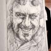 Maceman portrait – Sketchbook drawing