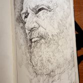 Portrait of a man with a beard – Sketchbook Drawing
