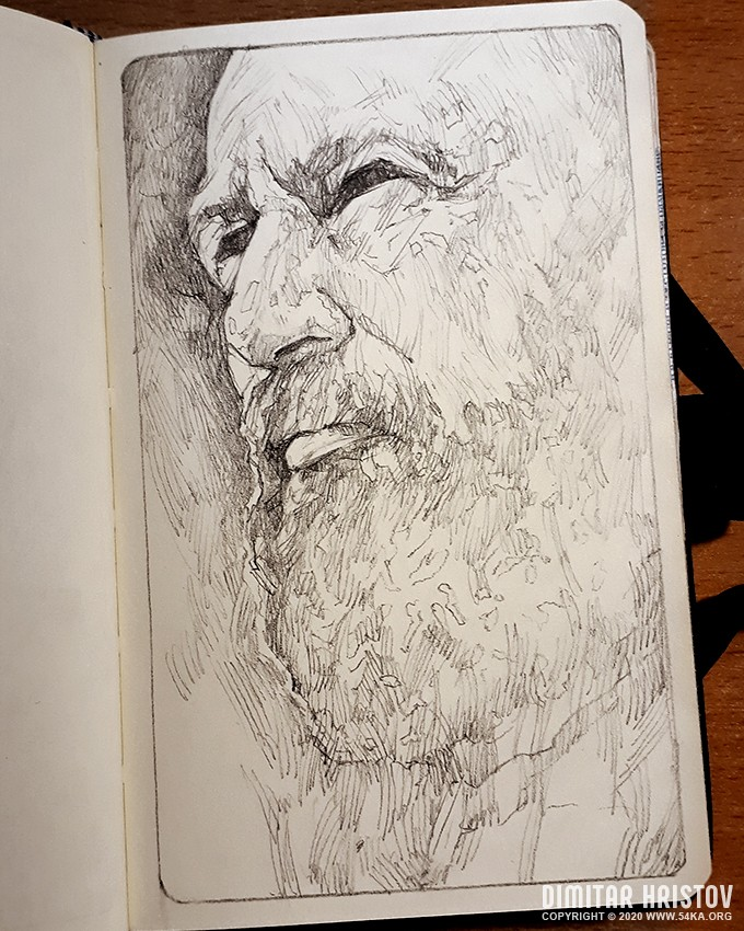 portrait of a man with a beard sketchbook drawing by 54ka :: Portrait of a man with a beard   Sketchbook Drawing :: view all sketchbook portrait pencil art featured  :: Figure Drawing Female Image charcoal Body Sketch study Pose pencil Human Body