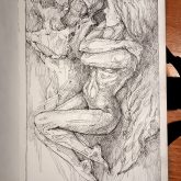 Quick sketch fantasy art – Sketchbook drawing