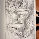 Quick sketch fantasy art – Sketchbook drawing