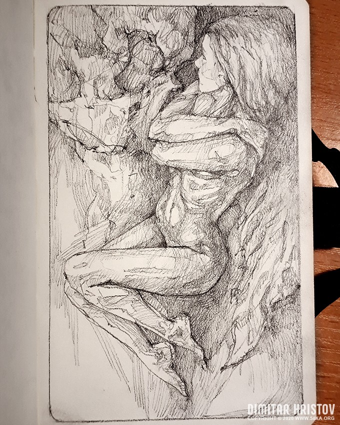 quick sketch fantasy art sketchbook drawing by 54ka :: Quick sketch fantasy art   Sketchbook drawing :: view all sketchbook pencil art figure drawing featured fantasy art  :: Figure Drawing Female Image charcoal Body Sketch study Pose pencil Human Body