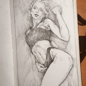 Quick sketch pose– Sketchbook drawing