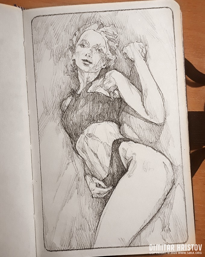 quick sketch pose sketchbook drawing by 54ka :: Quick sketch pose– Sketchbook drawing :: view all sketchbook pose reference pencil art figure drawing  :: Figure Drawing Female Image charcoal Body Sketch study Pose pencil Human Body