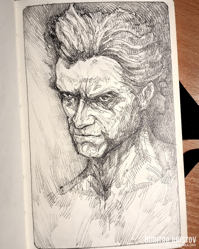 the werewolf sketchbook drawing by 54ka :: The Werewolf   Sketchbook Drawing :: view all sketchbook portrait pencil art  :: Figure Drawing Female Image charcoal Body Sketch study Pose pencil Human Body