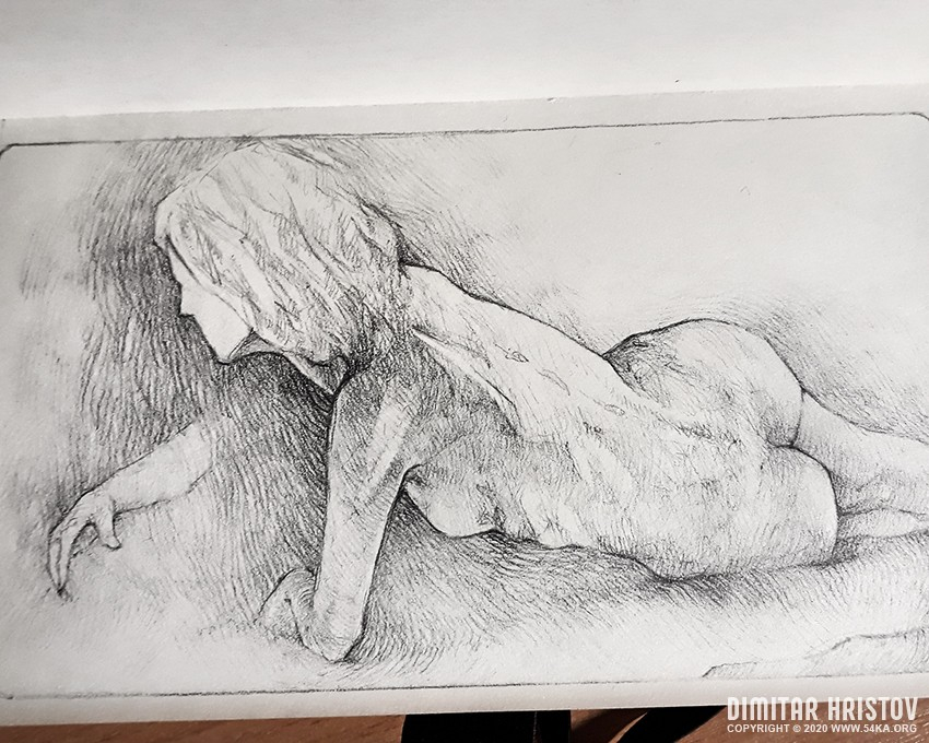 lying model on one side pencil drawing by 54ka :: Lying model on one side   Pencil drawing :: view all sketchbook pose reference pencil art featured  :: Figure Drawing Female Image charcoal Body Sketch study Pose pencil Human Body