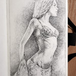 Sensual Woman Quick sketch – Pencil drawing