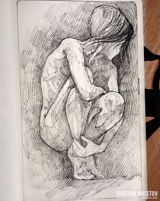 squatted woman pose drawing sketchbook drawing by 54ka :: Squatted woman pose drawing   Sketchbook drawing :: view all sketchbook pencil art figure drawing  :: Figure Drawing Female Image charcoal Body Sketch study Pose pencil Human Body