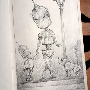 Androids – Sketchbook drawing